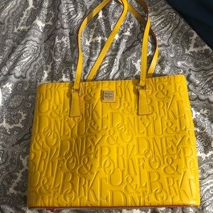 Yellow Dooney and Bourke tote